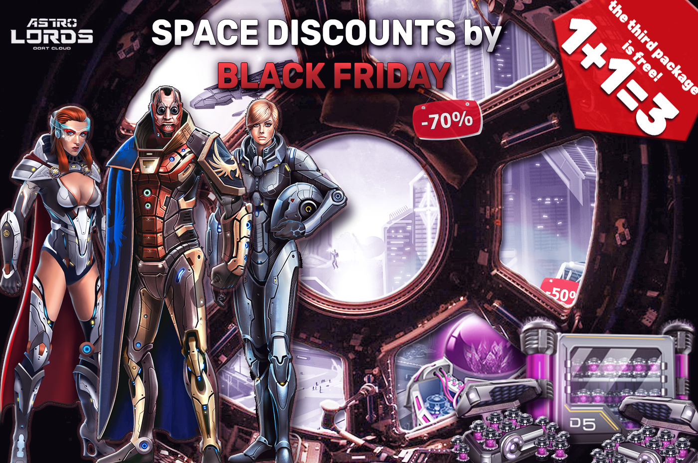 black friday 2019 astrolords lord game mmo space sale discount bonus strategy
